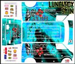 BLUE The Gambler Lucky 13 themed vinyl SKIN Kit & Stickers to fit Tamiya Lunchbox R/C Monster Truck
